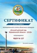 ЛДС 2019. Сертификат