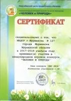Сертификат ДОУ. ЧиП